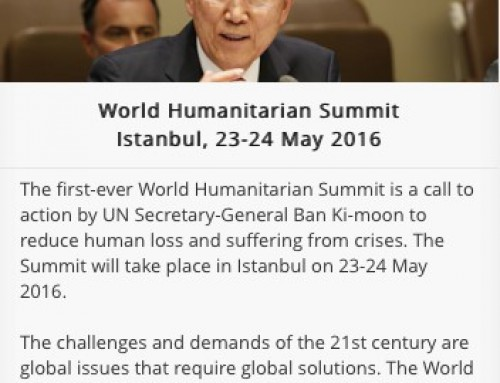 GDS Exhibiting at the 1st World Humanitarian Summit